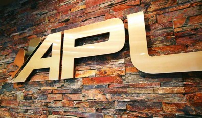 APL Wall Sign in Peace River Office