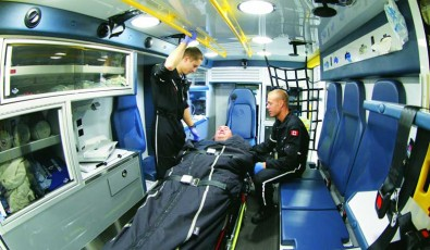 Inside an APL Ground Ambulance